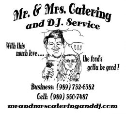 CATERING AND DJ